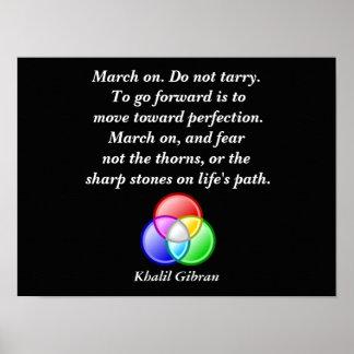 Cita de Khalil Gibran - impresión del arte Póster