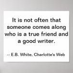 Cita de la amistad/del escritor, poster del Web de