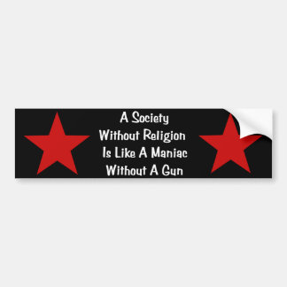 Cita de la Anti-Religión Pegatina Para Auto