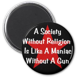 Cita de la Anti-Religión Imán Redondo 5 Cm