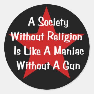 Cita de la Anti-Religión Pegatina Redonda