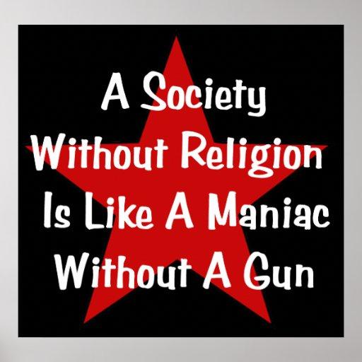 Cita de la Anti-Religión Posters