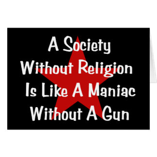 Cita de la Anti-Religión Tarjetón