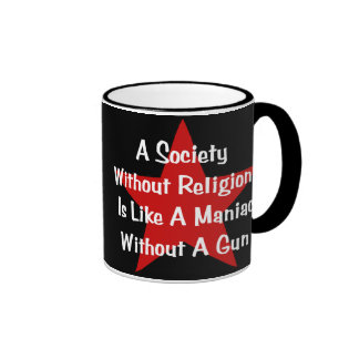 Cita de la Anti-Religión Taza