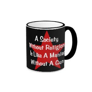 Cita de la Anti-Religión Taza De Dos Colores