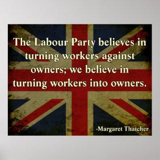 Cita de la Anti-Unión de Thatcher Póster