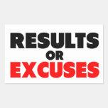 Cita de la aptitud de los resultados o de las rectangular pegatina