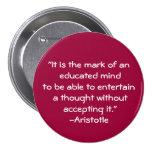 Cita de la Aristóteles-Sabiduría Pins