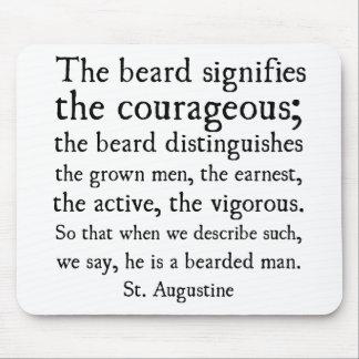 Cita de la barba de St Augustine Alfombrillas De Ratones