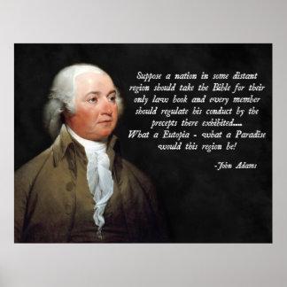 Cita de la biblia de John Adams Póster