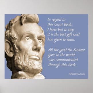 Cita de la biblia de Lincoln Póster