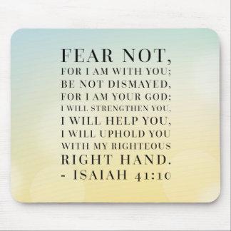 Cita de la biblia del 41:10 de Isaías Tapetes De Ratón