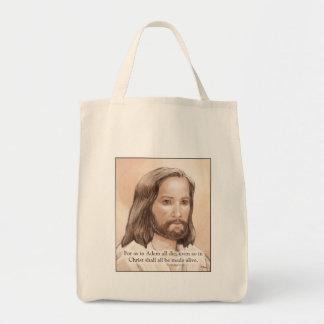 Cita de la biblia del arte de Jesús de la sepia -  Bolsas
