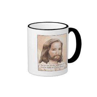 Cita de la biblia del arte de Jesús de la sepia - Tazas