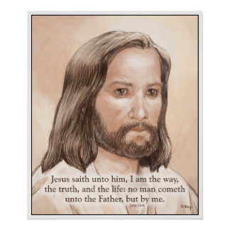 Cita de la biblia del arte de Jesús de la sepia - Poster