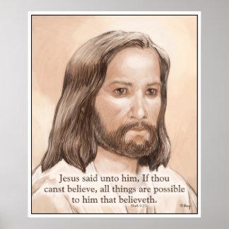 Cita de la biblia del arte de Jesús de la sepia - Impresiones