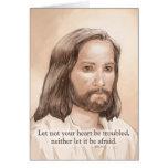 Cita de la biblia del arte de Jesús de la sepia -  Felicitaciones