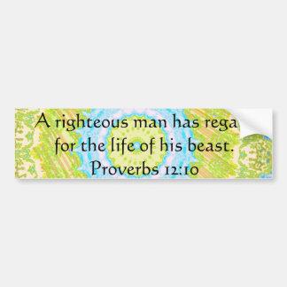 Cita de la biblia sobre el 12:10 animal de los pro etiqueta de parachoque