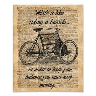 Cita de la bicicleta del arte del diccionario del fotografías