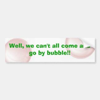 Cita de la burbuja pegatina para auto
