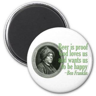 Cita de la cerveza de Franklin Imán Para Frigorifico