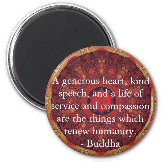 CITA de la CITA de la compasión de Buda Imán Redondo 5 Cm