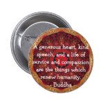 CITA de la CITA de la compasión de Buda Pins