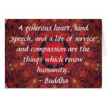 CITA de la CITA de la compasión de Buda Tarjeta