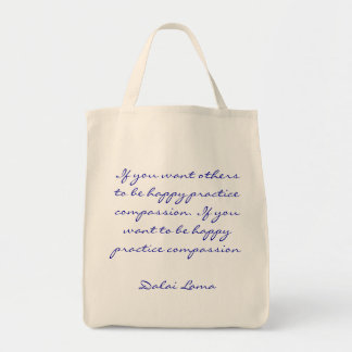 Cita de la compasión de la práctica bolsa tela para la compra
