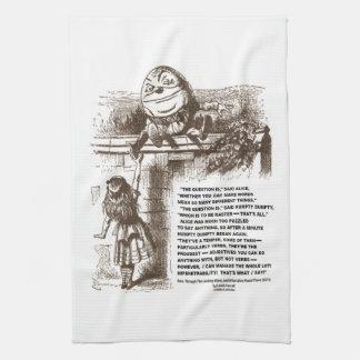 Cita de la conversación de Alicia Humpty Dumpty de Toallas