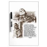 Cita de la conversación de Alicia Humpty Dumpty de Tablero Blanco