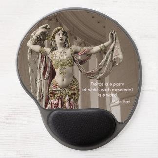 Cita de la danza de Bellydancer Mata Hari Alfombrillas De Raton Con Gel