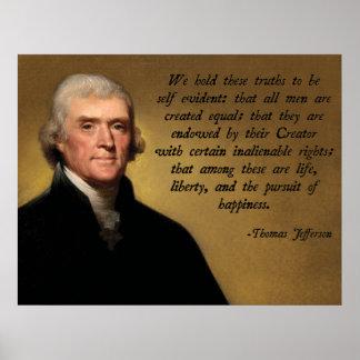 Cita de la Declaración de Independencia Poster