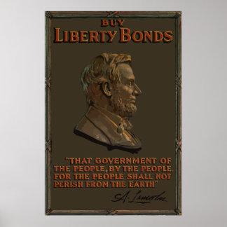 Cita de la dirección de Lincoln Gettysburg Póster