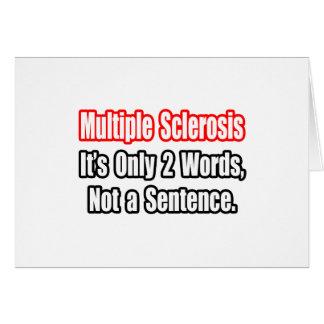 Cita de la esclerosis múltiple tarjeta
