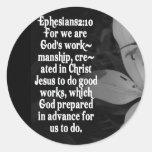 CITA DE LA ESCRITURA DE LA BIBLIA DEL 2:10 DE ETIQUETA REDONDA