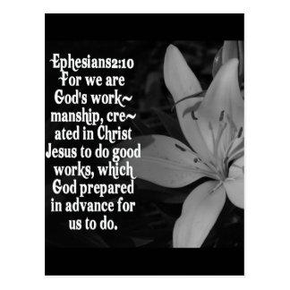 CITA DE LA ESCRITURA DE LA BIBLIA DEL 2:10 DE POSTAL