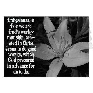CITA DE LA ESCRITURA DE LA BIBLIA DEL 2:10 DE TARJETA DE FELICITACIÓN