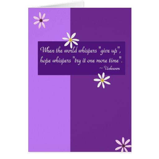 Cita de la esperanza - tarjeta de felicitación