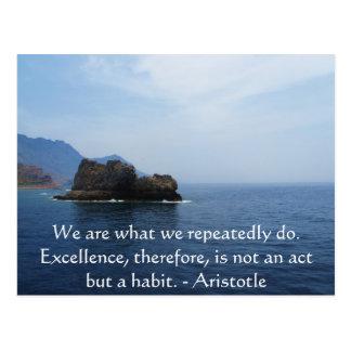 Cita de la excelencia de Aristóteles Postales