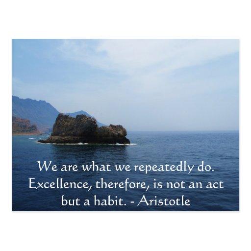 Cita de la excelencia de Aristóteles Tarjetas Postales