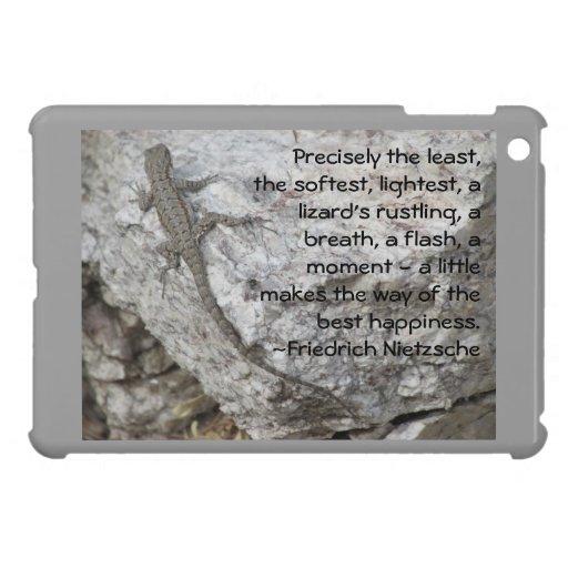 Cita de la felicidad de Friedrich Nietzsche iPad Mini Protectores
