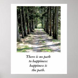 Cita de la felicidad - poster póster