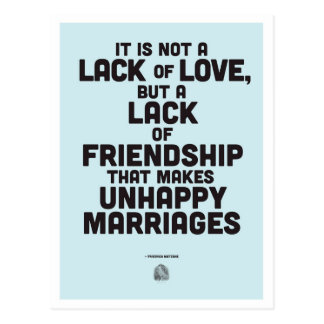 Cita de la filosofía de la boda tarjetas postales
