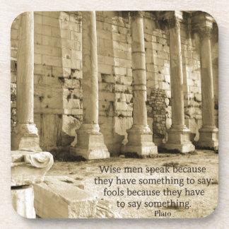 Cita de la filosofía de Platón sobre tontos y la s Posavasos