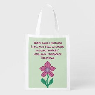 Cita de la flor de Guillermo Makepeace Thakeray Bolsa De La Compra