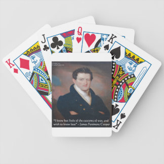 Cita de la guerra de James Fenimore Cooper Baraja Cartas De Poker