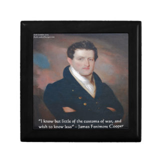 Cita de la guerra de James Fenimore Cooper Caja De Recuerdo