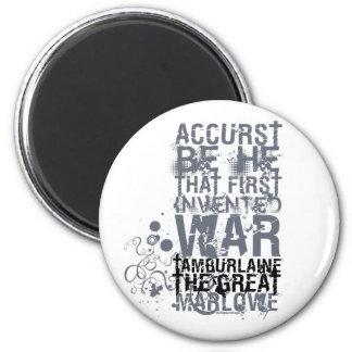 Cita de la guerra de Tamburlaine (B&W) Iman Para Frigorífico