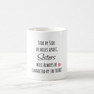 Cita de la hermana taza básica blanca